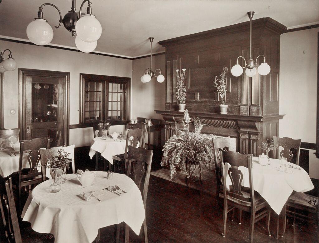 Defectives, Insane: United States. Massachusetts. Waverly. Mclean Hospital: Mclean Hospital. Mens Belknap: Dining Room