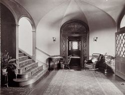 Defectives, Insane: United States. Massachusetts. Waverly. McLean Hospital: McLean Hospital. Proctor House: Entrance hall.   Social Museum Collection