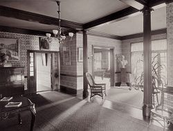 Defectives, Insane: United States. Massachusetts. Waverly. McLean Hospital. Women's Gymnasium: Entrance hall.   Social Museum Collection