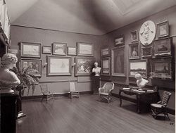 Defectives, Insane: United States. Massachusetts. Waverly. McLean Hospital. Women's Gymnasium: Art room.   Social Museum Collection