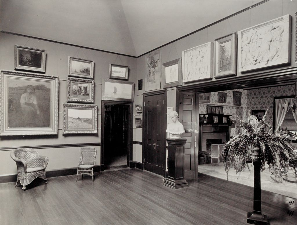 Defectives, Insane: United States. Massachusetts. Waverly. Mclean Hospital. Women's Gymnasium: Art Room And Parlor
