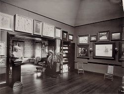 Defectives, Insane: United States. Massachusetts. Waverly. McLean Hospital. Women's Gymnasium: Art room and parlor.   Social Museum Collection