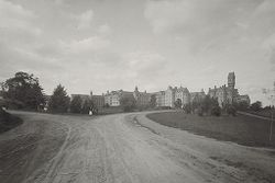 Defectives, Insane: United States. Massachusetts. Worcester. Insane Asylum: Worcester Lunatic Hospital: View from main driveway.   Social Museum Collection