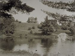 Defectives, Insane: United States. New Hampshire. Concord. State Hospital: New Hampshire State Charitable and Correctional Institutions.: New Hampshire State Hospital, Concord.: Walker Cottage at Lake Penacook - Distant View..   Social Museum Collection