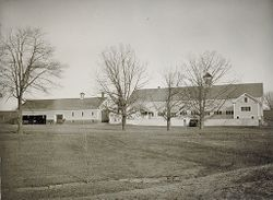 Defectives, Insane: United States. New Hampshire. Concord. State Hospital: New Hampshire State Charitable and Correctional Institutions.: New Hampshire State Hospital. Farm Colony.: Barns..   Social Museum Collection