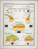 Health, General: United States. U.s. Department Of Agriculture. Composition Of Food Materials: Chart 3. Meat Fresh And Cured