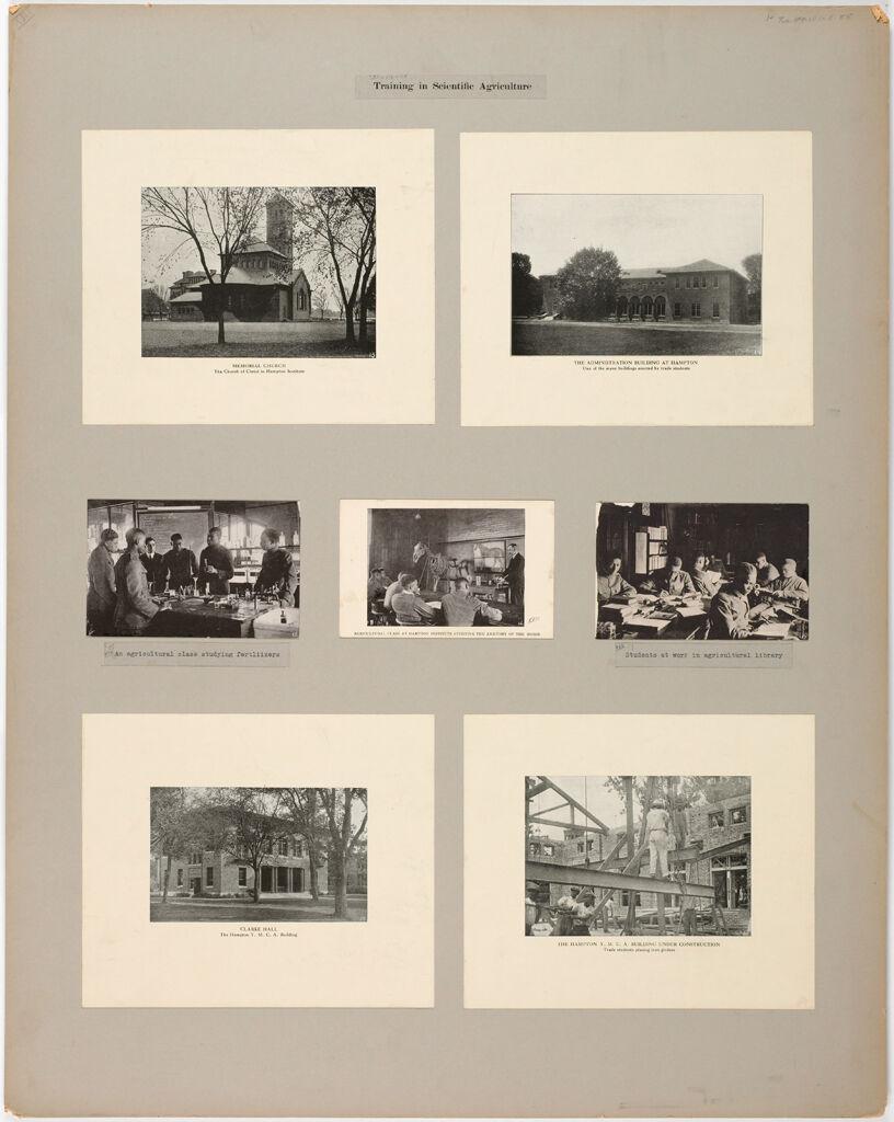 Races, Negroes: United States. Virginia. Hampton. Hampton Normal And Industrial School: Training In Scientific Agriculture