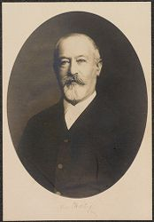 Races, Jews: United States. New Jersey. Woodbine. Baron de Hirsch Agricultural and Industrial School: 5. Trustees of Baron de Hirsch Fund.: Jacob H. Schiff.   Social Museum Collection