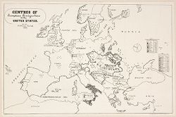 Races, Immigration: United States. Immigration to the United States: Centres of European Emigration to the United States for the Fiscal Year, 1902..   Social Museum Collection