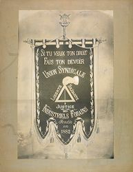 Provident Institutions, Insurance, General: France. Union syndicale des industriels forains: Si tu veux ton droit fais ton devoir: Union Syndicale des Industriels Forains, fondée en 1882: Liberté, Solidarité, Justice.   Social Museum Collection