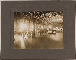 Defectives, Epileptics: United States. Massachusetts. Palmer. State Hospital for Epileptics: Interior of laundry, 1907..   Social Museum Collection