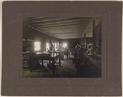 Defectives, Epileptics: United States. Massachusetts. Palmer. State Hospital for Epileptics: Industrial room, 1907..   Social Museum Collection