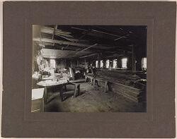 Defectives, Epileptics: United States. Massachusetts. Palmer. State Hospital for Epileptics: Carpenter Shop, 1907..   Social Museum Collection