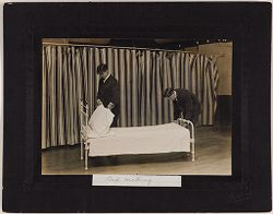 Defectives, Epileptics: United States. Massachusetts. Palmer. State Hospital for Epileptics: Bed Making..   Social Museum Collection