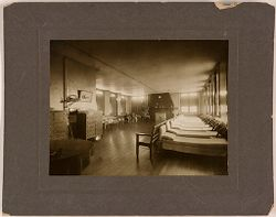 Defectives, Epileptics: United States. Massachusetts. Palmer. State Hospital for Epileptics: Dayroom and dormitory Farm Group #1, 1907..   Social Museum Collection