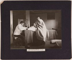 Defectives, Epileptics: United States. Massachusetts. Palmer. State Hospital for Epileptics: Blood pressure after Electric cabinet bath. 1904..   Social Museum Collection