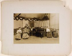 Defectives, Epileptics: United States. Massachusetts. Palmer. State Hospital for Epileptics: Choir, 1908.   Social Museum Collection