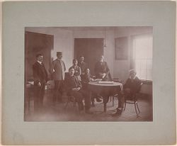 Defectives, Epileptics: United States. Massachusetts. Palmer. State Hospital for Epileptics: 1902 Group of patients at Hyde Cottage..   Social Museum Collection