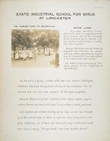 Crime, Children, Reform Schools: United States. Massachusetts. Lancaster. State Industrial School For Girls: State Industrial School For Girls At Lancaster: The Younger Girls At Recreation. After Lives