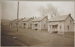 Housing, Industrial: United States. Pennsylvania: Industrial Housing, Detached Dwellings Frame Construction: Bessemer and Lake Erie Railroad Company: Subsidiary of the United States Steel Corporation: I: I and II. Company houses for employees at North Bessemer, Pa..   Social Museum Collection