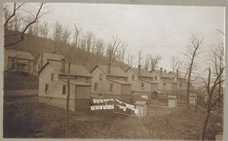 Housing, Industrial: United States. Pennsylvania: Industrial Housing, Detached Dwellings Frame Construction: Bessemer and Lake Erie Railroad Company: Subsidiary of the United States Steel Corporation: II: I and II. Company houses for employees at North Bessemer, Pa..   Social Museum Collection