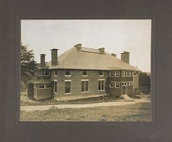 Defectives, Epileptics: United States. Massachusetts. Palmer. State Hospital for Epileptics: Kitchen bldg. and Assembly Hall. 1906..   Social Museum Collection