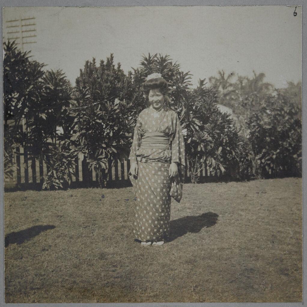 Social Settlements: Hawaii. Wailuku. Alexander House: Alexander House, Wailuku, Hawaii: Japanese Lady In Fancy Work Class.