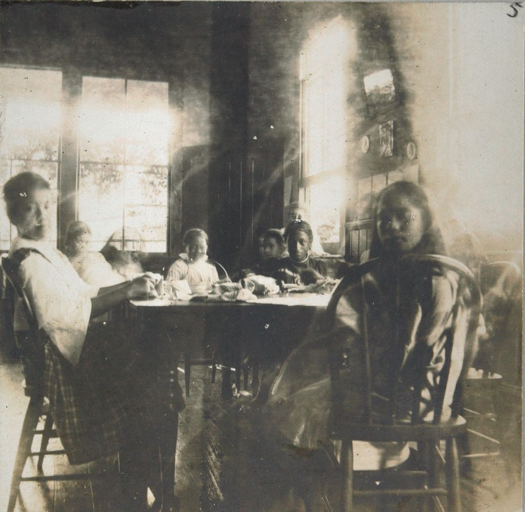 Social Settlements: Hawaii. Wailuku. Alexander House: Alexander House, Wailuku, Hawaii: Sewing Class, Hawaiin [Sic] Girls.