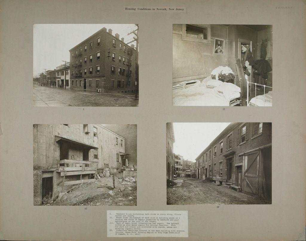 Housing, Conditions: United States. New Jersey. Newark: Housing Conditions In Newark, New Jersey