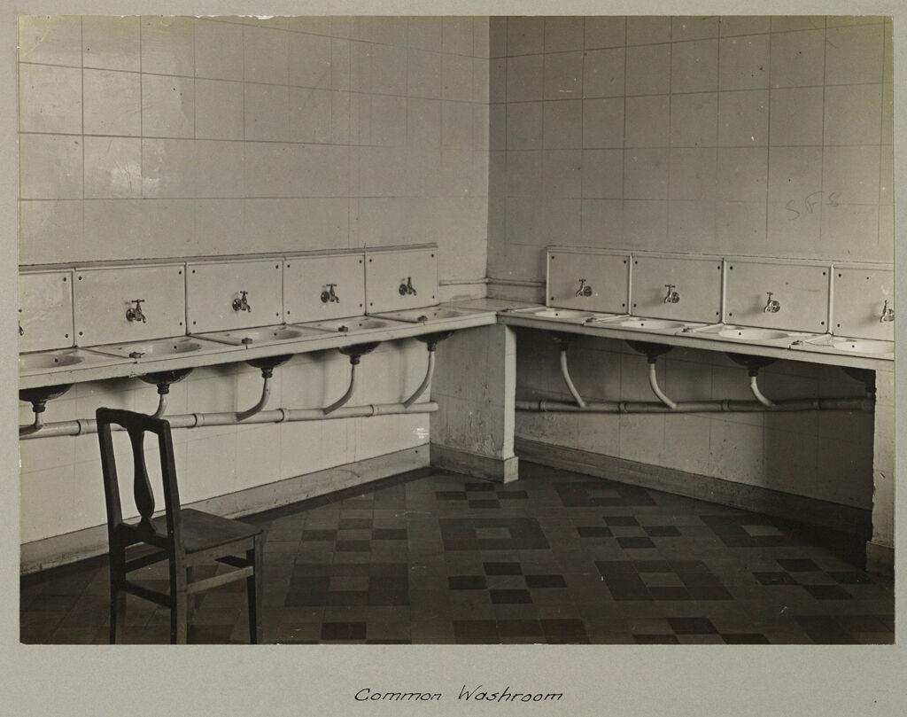 Religious Agencies, Salvation Army: France. Paris. Women's Lodging House: Salvation Army Paris, France: A Cheap Lodging House For Women, Paris: Common Washroom