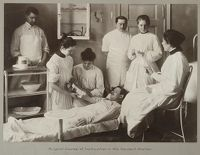 Charity, Convalescents: Germany. Berlin. Verein Vom Roten Kreuz: Erholungsstätten: Accident Stations Of The Red Cross Society, Berlin, Germany: Surgical Course Of Instruction In The Accident Station.