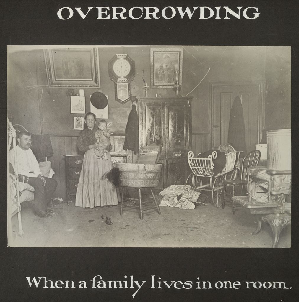 Housing, Conditions: United States. Pennsylvania. Pittsburgh. Pittsburgh Survey: Overcrowding: When A Family Lives In One Room.
