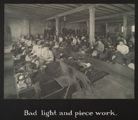 Industrial Problems, Conditions: United States. Pennsylvania. Pittsburgh. Pittsburgh Survey: Bad Light And Piece Work.