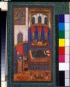 Tahmina Comes Into Rustam's Chamber, Illustrated Folio From A Manuscript Of The Shahnama Of Firdawsi