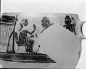 Kabeirion Skyphos Depicting Kirke Or Penelope At The Loom