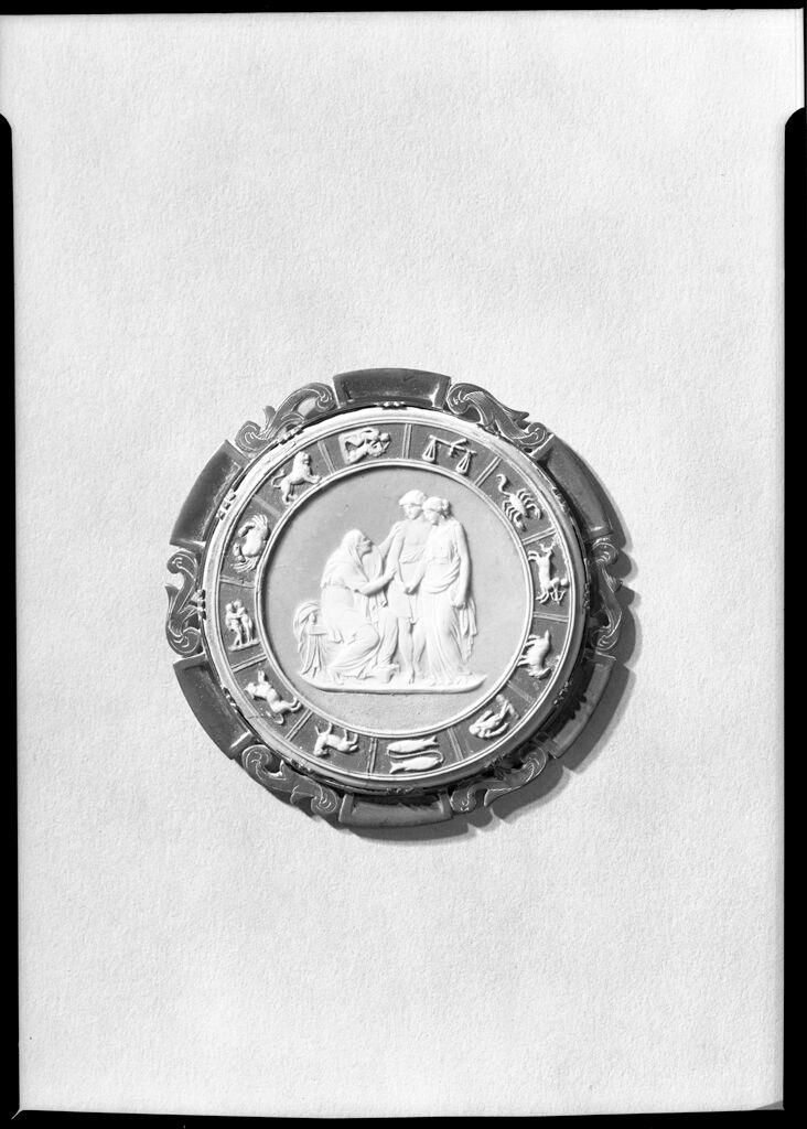 Veturia And Volumnia Entreating Coriolanus With Zodiac Border