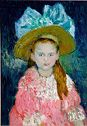 Young Girl Wearing A Large Hat