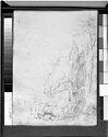 Blank Page; Verso: Rocky Coastal Landscape