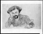 Portrait of a Man Writing