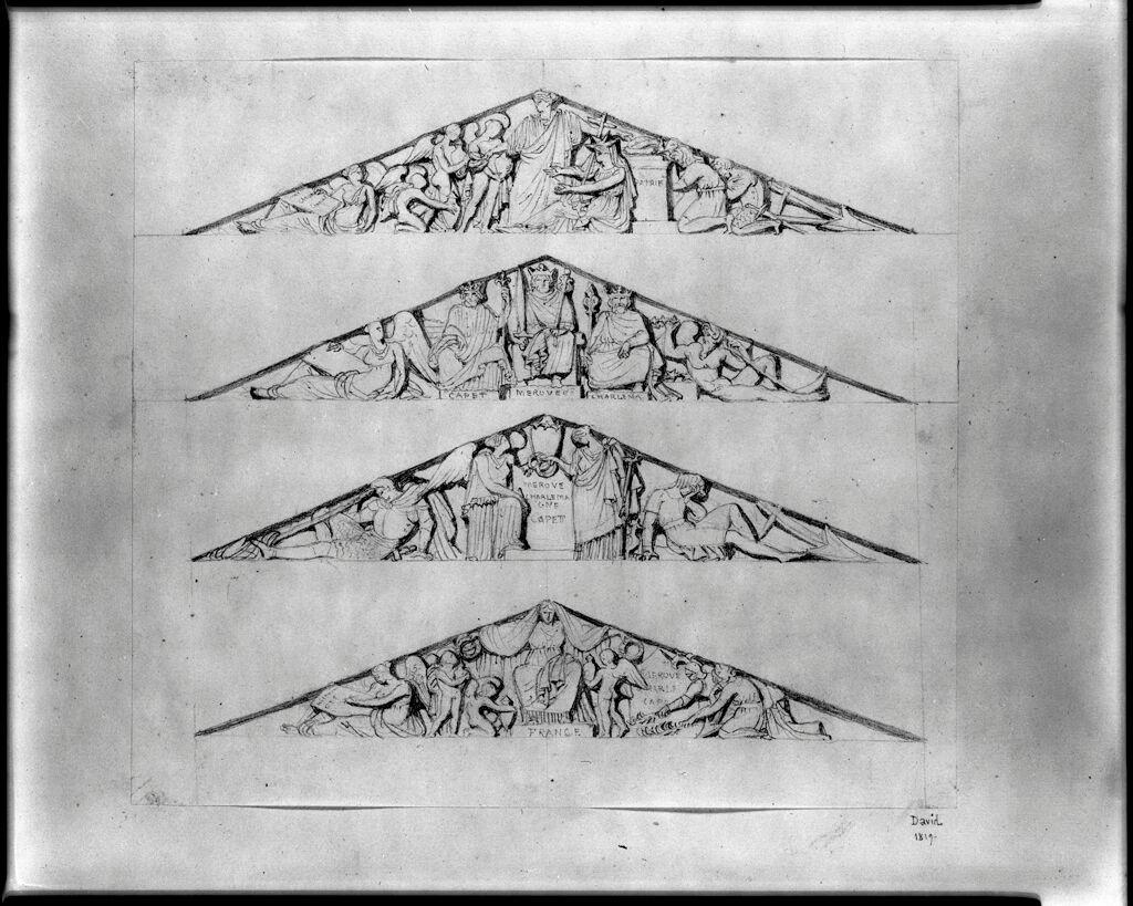 Four Studies For A Pediment Bas-Relief