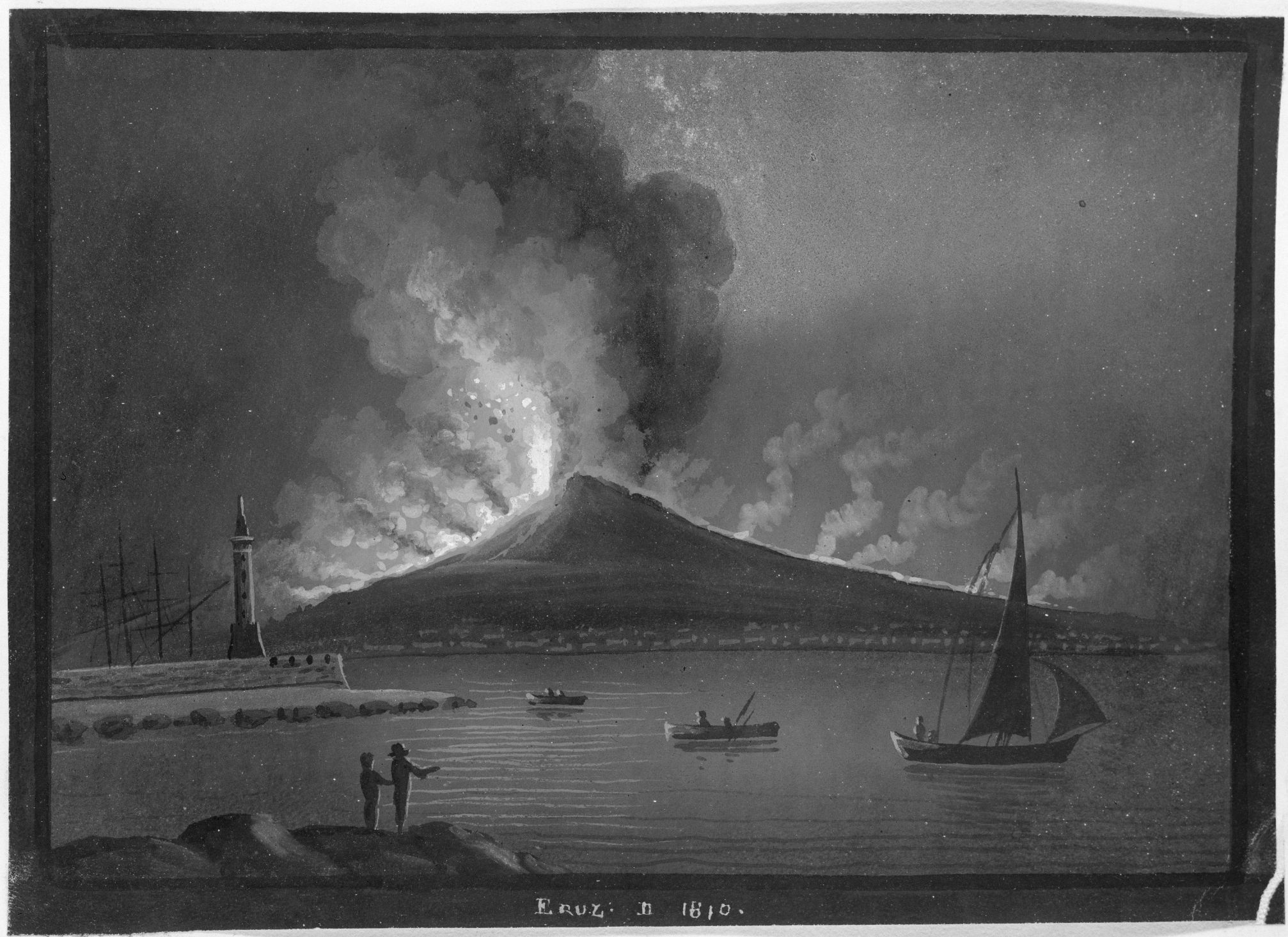 Eruption Of Vesuvius In 1810