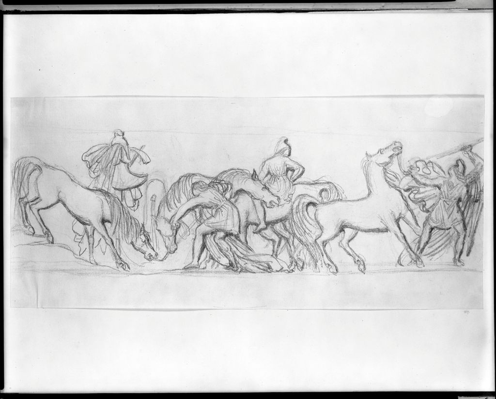 Frieze Of Amazons And Horses