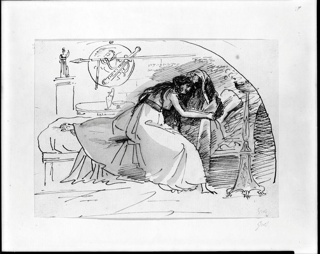 Antigone And Oedipus; Verso: Figure Studies