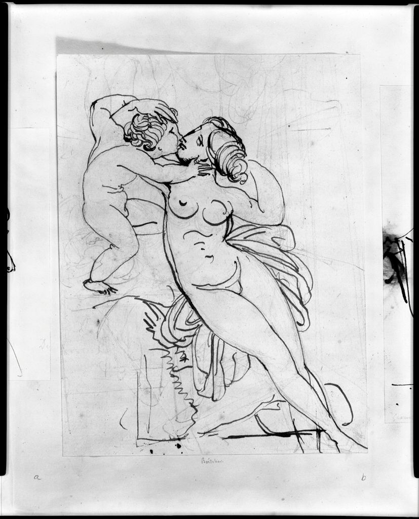 Venus And Cupid Kissing