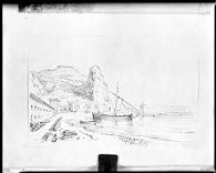 View of the Harbor, Terracina