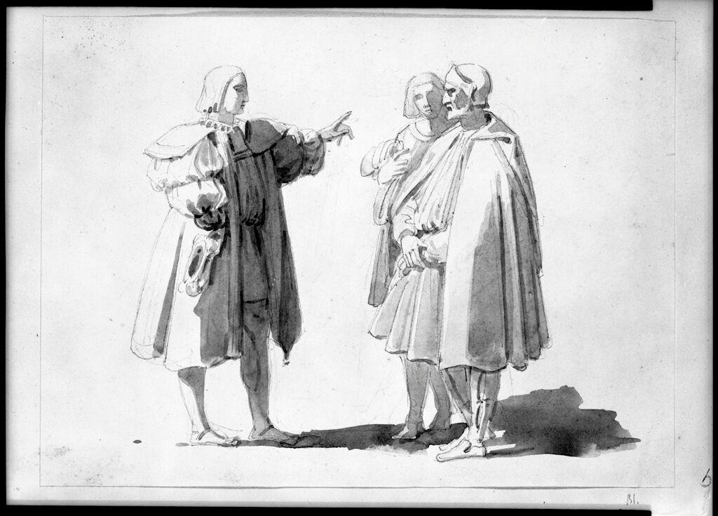 Three Figures In Renaissance Dress