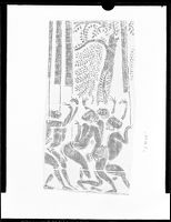 Dancing Figures And Tree, Cambodian Rubbing From Angkor Wat