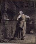 Woman Baking Bread