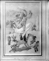Circus Scene: Nude Woman Jumping Through Paper Hoop