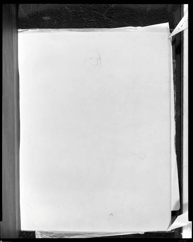 Faint Sketch Of The Head Of Etourneau; Verso: Inscription